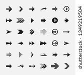set of black arrows | Shutterstock .eps vector #1349219504