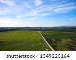 aerial view of village summer... | Shutterstock . vector #1349223164