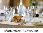 table set for an event party or ... | Shutterstock . vector #134922605