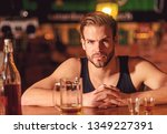 i like to go to pubs. man... | Shutterstock . vector #1349227391