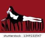 skinny mood. vector hand drawn... | Shutterstock .eps vector #1349233547