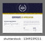 professional certificate.... | Shutterstock .eps vector #1349239211