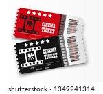 vector cinema tickets isolated... | Shutterstock .eps vector #1349241314