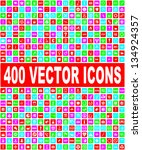 colorful vector icons set | Shutterstock .eps vector #134924357
