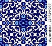 talavera pattern. azulejos... | Shutterstock .eps vector #1349244074