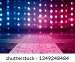 Dark Empty Stage  Multicolored...