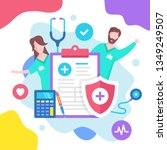health insurance concept.... | Shutterstock .eps vector #1349249507