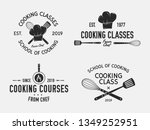 vintage cooking emblems. cook... | Shutterstock .eps vector #1349252951