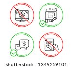 do or stop. payment received ... | Shutterstock .eps vector #1349259101