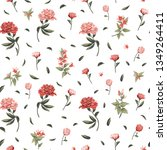 seamless floral pattern with... | Shutterstock .eps vector #1349264411