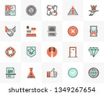 flat line icons set of business ... | Shutterstock .eps vector #1349267654