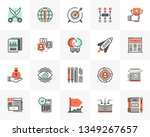 flat line icons set of startup... | Shutterstock .eps vector #1349267657
