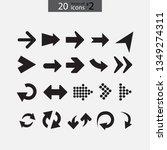 arrows black set icons 1. arrow ... | Shutterstock .eps vector #1349274311