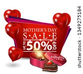 mother's day sale  modern red... | Shutterstock .eps vector #1349275184