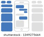 smartphone outline with blank... | Shutterstock .eps vector #1349275664