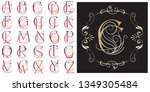vector set monogram for... | Shutterstock .eps vector #1349305484