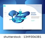 landing page career growth  the ... | Shutterstock .eps vector #1349306381