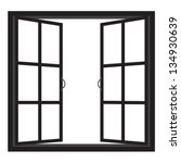 windows half open window vector | Shutterstock .eps vector #134930639
