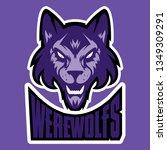 wolf head logo. great for... | Shutterstock .eps vector #1349309291