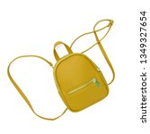 yellow fashionable backpack on ... | Shutterstock . vector #1349327654