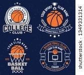 set of basketball club badge.... | Shutterstock .eps vector #1349331314