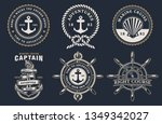 set of nautical badges with... | Shutterstock .eps vector #1349342027