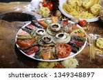 roast mushrooms and peppers | Shutterstock . vector #1349348897