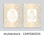 white and gold vintage greeting ... | Shutterstock .eps vector #1349360324