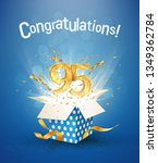 95 th years anniversary and... | Shutterstock .eps vector #1349362784