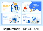 web page design templates... | Shutterstock .eps vector #1349373041
