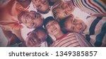 portrait of schoolkids forming...   Shutterstock . vector #1349385857