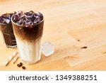 iced coffee and latte macchiato ... | Shutterstock . vector #1349388251