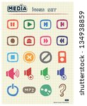 music and media web icons set... | Shutterstock .eps vector #134938859