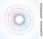 geometric frame from circles ... | Shutterstock .eps vector #1349396624