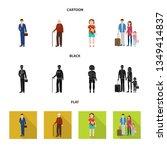 vector design of character and... | Shutterstock .eps vector #1349414837