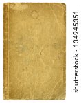 Small photo of Blank old book cover, isolated.