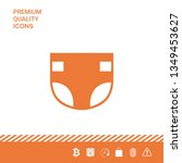 nappy icon symbol. graphic... | Shutterstock .eps vector #1349453627