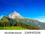 alps mountains and sky summer... | Shutterstock . vector #134945534