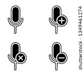 set of microphone icon. element ...