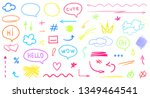 hand drawn infographic elements ... | Shutterstock .eps vector #1349464541