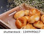 traditional of homemade buns... | Shutterstock . vector #1349490617