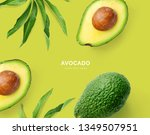 Creative Layout Made Of Avocad...