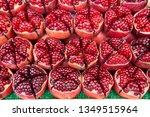 moe reduce pomegranate cut in... | Shutterstock . vector #1349515964