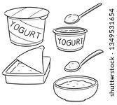 vector set of yogurt | Shutterstock .eps vector #1349531654