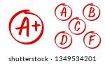 school grade results vector... | Shutterstock .eps vector #1349534201