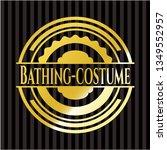 bathing costume gold emblem or... | Shutterstock .eps vector #1349552957