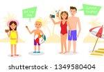 summer vacation horizontal... | Shutterstock .eps vector #1349580404