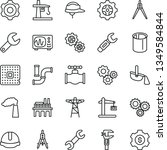 thin line vector icon set  ... | Shutterstock .eps vector #1349584844