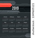colorful calendar design | Shutterstock . vector #1349605121