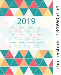 colorful calendar design | Shutterstock . vector #1349605154